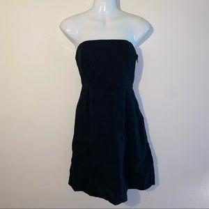 Old Navy Strapless Linen Mini Dress Black 4